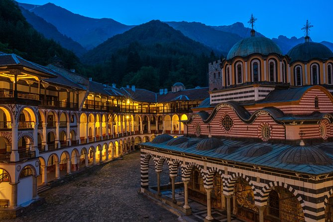 Discover the unique culture and nature of two of Bulgaria's most special places on your 8-hour guided tour from Sofia. Rila Monastery and Boyana Church,two of the finest and most popular UNESCO World Heritage sites in Bulgaria, are recognized for their religious significance, historical importance and cultural dignities. Sit back and relax in an air-conditioned minivan as your guide leads you through the fascinating pre-Renaissance frescoes of the Boyana Church; the small towns and beautiful, sleepy villages all the way to the heart of the Rila Monastery Nature Park on your small-group tour. Admire the unique architecture and learnmany details about the vast history of the largest Bulgarian monastic complex.<br><br><br>