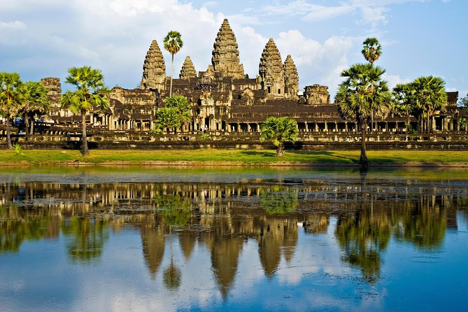 Discover Cambodia's mystical temples at the UNESCO World Heritage-listed Angkor Archaeological Park. This three-day Siem Reap adventure brings you face to face with awe-inspiring temples of the Khmer Kingdom, from the famous Angkor Wat to the city of Angkor Thom – including the Bayon, Ta Prohm and Pre Rup -- plus Banteay Srei. Enjoy a jungle hike to the River of a Thousand Lingas and a boat trip around Tonle Sap, a UNESCO Biosphere Reserve. Receive personal attention from your professional guide on this small-group tour, limited to 12 people.