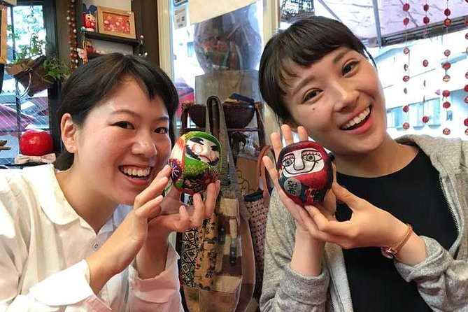 """First of all, please check Instagram: #wasabijpdoll #wasabijp<br><br>we are """"wasabi experience project""""<br><br>This project provides Japan's carefully selected superb experiences.<br><br>Daruma dolls are round-shaped dolls that have long been loved by the Japanese as good luck charms that help realize people's wishes. In this one-hour workshop, you can create your original colorful daruma doll. Choose your favorite fabric, cut and paste it onto the daruma's body, and paint a face on it. As daruma and fabrics are two of Chofu's main specialties, this makes a perfect souvenir of your visit to the city. While waiting for the glue to dry, engage in fun little daruma-themed games or take pictures with a daruma mask on your head. Tea will also be served at this time. This is a great way to get a quick hands-on experience of Japanese culture while putting your creativity to work."""
