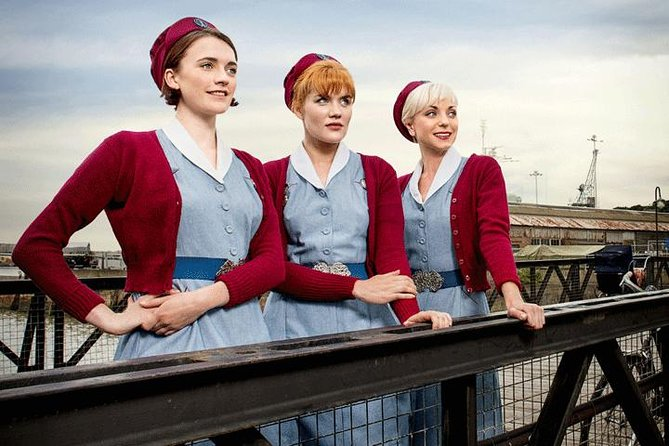 Guided 1.5 hour walking tour of exterior filming locations at the historic dockyard from the hit BBC show 'Call the Midwife'. This tour is led by your very own midwife and takes you behind the scenes including an exhibition oforiginal costumes and props from the popular show.