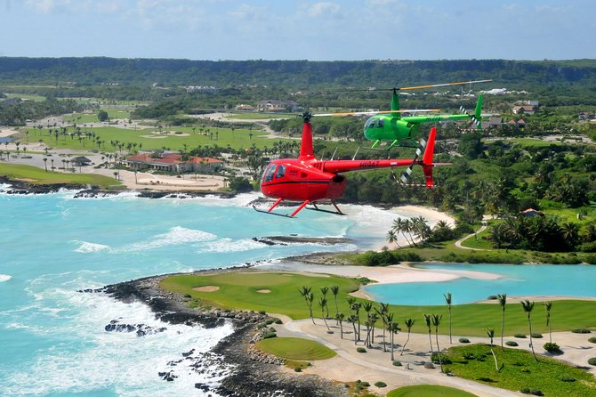 Enjoy an exciting helicopter tour from Punta Cana over the Dominican Republic's southeastern beaches. As you soar through the air above this piece of tropical paradise — where the Caribbean Sea meets the Atlantic Ocean — gaze down on the white sand, turquoise water, bright green palm trees and sprawling resorts. Depending on the option selected, you'll see Bavaro Beach, Bavaro Lagoon, Macao Beach and Uvero Alto Beach. Choose a tour from 10 to 40 minutes.