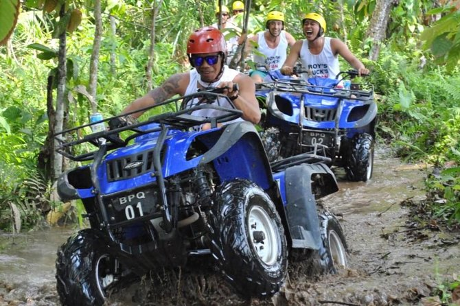 Bali quad bike adventure is to challenge your adrenaline and your experience on four wheel. the quad bike will past a picturesque landscape of rice fields, bamboo forest and lush riverside flanked by traditional Balinese villages. Showers, lunch, refreshments and round-trip hotel transport included.