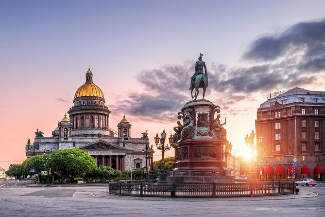 Get a comprehensive overview of St. Petersburg on this 2-day visa-freesmall-group tour and taste Russian cuisine with traditional 3-course lunches included one each day. See famous landmarks such as Peterhof, Catherine's Palace, the Hermitage Museum, the Church on the Spilled Blood, and much more. Enjoy skip-the-line admission to many popular attractions, a sightseeing boat cruise along the canals and the Neva River, and a guided tour of the famous Faberge Museum with the largest collection of Faberge eggs.