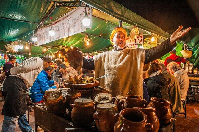 Experiência em Marraquexe: excursão gastronômica ao mercado de Djemaa El Fna incluindo um jantar tradicional, Marrakech, cidade de Marrocos, MARROCOS