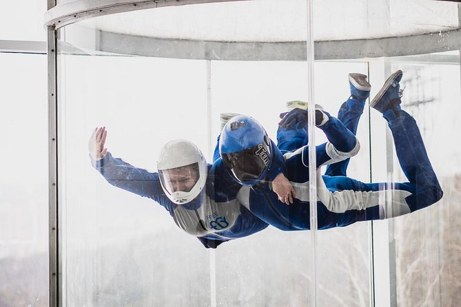 Here is your chance to really fly. Experience true free-fall conditions, just like a real skydive. Each flyer will enjoy two skydives in the wind tunnel. The time it takes for each skydive is like falling through the air from 12,000 to 3,000 feet!