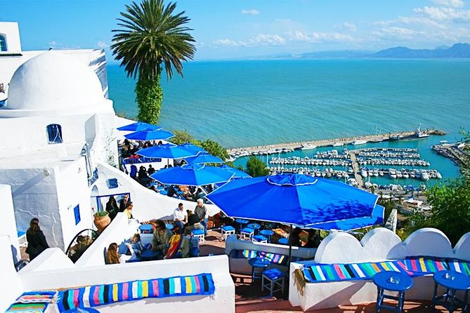Visit the ancient city of Carthage, a seaside village, Bardo Museum, Sidi-Bou-Said and the Tunis medina on a full-day tour from Tunis that includes lunch and round-trip transport from your Tunis centrally located hotel. This 8-hour tour takes you to two of Tunisia's 7 UNESCO World Heritage Sites in a single day.<br><br>Highlights<br> • Full-day Tunis tour<br> • Visit the Punic city of Carthage<br> • Have lunch in Sidi-Bou-Said<br> • Explore the Tunis medina with a licensed guide<br> • Hotel pickup and drop-off from your Tunis centrally located hotel