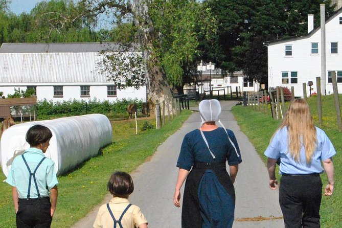 Many visitors to Lancaster seek out meaningful personal contact with the Amish community.Imagine visiting three Amish properties where our longstanding relationships allow you to become their guests during your stay. This exclusive tour is limited to 14 guests, and provides the rare opportunity to meet and talk to various Amish where they live and work. The three stops: Visit an Amish farm at milking time, go behind-the-scenes with an Amish craftsman, and then sit and chat with an Amish family right in their home. At this time, you MUST wear a mask to participate in this tour.