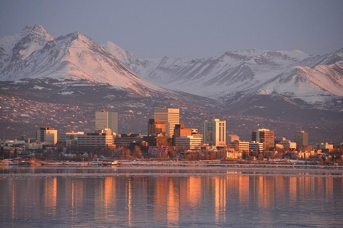 "Get a perfect introduction to the greater Anchorage area on this 3-hour tour. Stops include Earthquake Park, Lake Hood Seaplane Base, Beluga Point, Potter's Marsh, and Flattop Mountain. Enjoy the diverse wildlife, visit historical sites, experience scenic views, and shop in downtown Anchorage!<br><br>Please note: pricing is per tour, not per guest. Order ""1"" adult for all ages and group sizes from 1 to 13 guests"