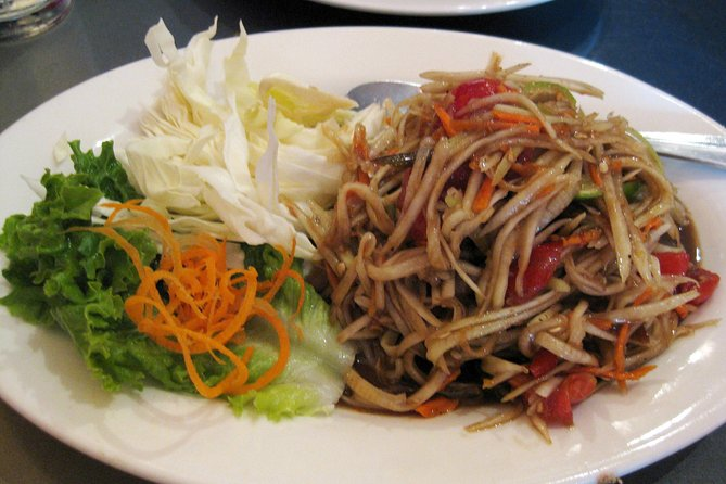 Learn how to prepare popular Laos dishes with this 4-hour cooking class. Make some simple dishes on your own with ingredients from a garden on the Mekong River. Challenge your culinary skills with the assistance of a professional Laotian chef.