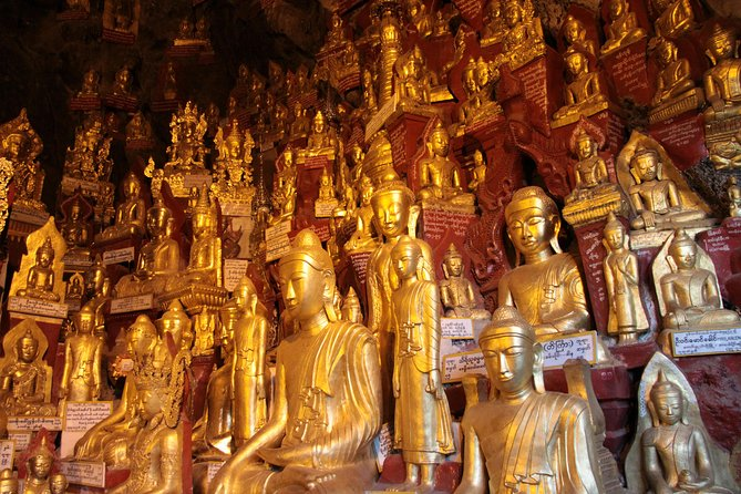 Pindaya is a quiet town perched on the bank of the placid Pone Ta lote Lake. The Pindaya cave, containing thousands of Buddha images, is one of the interesting destinations in Inlay region.