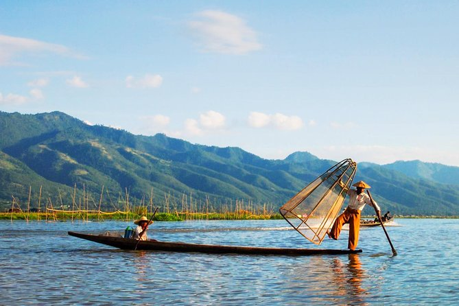 In this tour, we will take a unforgettable boat trip to Inle Lake and visit the attractions on the lake which include- Floating Market, PhaungDawOo Pagoda-the holiest religious site in Southern Shan State, Inpawkhone Village - famous for its silk weaving handlooms, Ngaphechaung Monasteries –one of the oldest monasteries on the lake. Exploration of Traditional Ways of Fishing, Floating Gardens, Silk Weaving Workshops, Cheroot Making Workshops, Silverware Workshop, Sacred Robe Woven from Lotus Fiber Workshops during this tour while interacting with locals to learn more about Inthar culture.