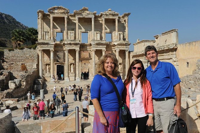 THIS IS A PRIVATE TOUR ONLY FOR YOUR PARTY / Do not lose this opportunity that may come once in your life time. Discover all the highlights of Ephesus with well-educated, licensed, professional tour local guide. It will be a private tour only for you and your party. Visit one of the UNESCO listed place that is<br><br>Ancient City of Ephesus, walk on the streets where Apostle Paul and John walked, see the Grand Theatre of Ephesus that St. Paul preached to Ephesians, take excellent pictures in front of Celsus Library,explore Roman Baths,Temple of Hadrian, Public Toilets, Marble Street, Agora, etc. Seesuperb preserved<br><br>Terrace Housesthat are for the rich people during the Roman time in Ephesus, famous with unique mosaic and frescos. Feel very peaceful atmosphere of shrine that is the most important Biblical Site in Turkey,<br><br>House of the Virgin Mary.