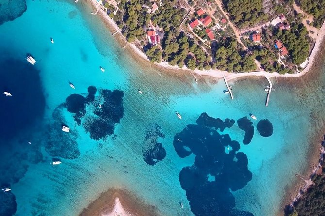 """Discover Trogir surrounding in 5-hours tour by speedboat with a small group of people, not more than 11 persons. Half day tour is perfect for those who want relax more - three islands, three different places which will leave you speechlees:<br> • <br><br>Blue lagoon - island Drvenik V.<br> • <br><br>village Maslinica - island Šolta<br> • <br><br>Duga bay - island Čiovo<br><br>Want to know where the name """"Blue lagoon"""" comes from? Ask the skipper to give you snorkel equipment, dive under the sea and you'll realize by yourself why """"Blue lagoon"""". Let your tour guide to tell you all interest story about places you will visit and why they're famous. Best of all - you can choose between morning and afternoon departure."""