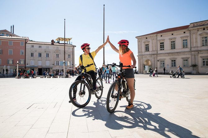 Piran & Saline electric biking tour is one of the most coveted and most wanted tours of the Slovenian coast. We will visit all the most popular spots in 4 hours with a professional electric Biking and guide. It is a trip with local wine (refošk and malvazija) and best local food (the Karst Prosciutto Ham with Mediterranean goods) tasting.