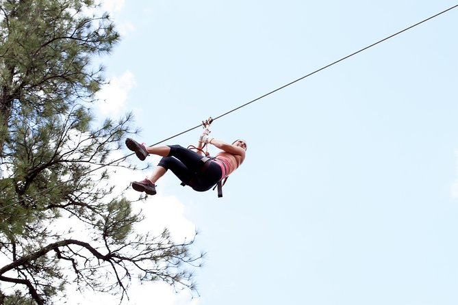 Adventure Ziplines (Adults and ages 12 and up) located at Historic Fort Tuthill County Park.<br><br>Admission to Adventure Ziplines for Adults & Teens (Participants 12-15 must be accompanied in a ratio of 1 Adult to 3 Teens)<br> • Duration: 2 Hours (approx.)