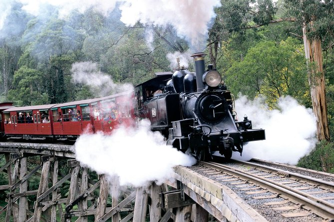 Experience Dandenong Ranges National Park and hop on the Puffing Billy Steam Train – Australia's favorite century-old steam train and one of the major tourist attractions. In the afternoon, visit Yarra Valley wineries for wine tasting and a roast lunch. <br><br>Operating on a small coach, bringing you personalised service at its best*. <br>*In the rare circumstance whereby your tour is merged with another company, you may travel in a larger coach.