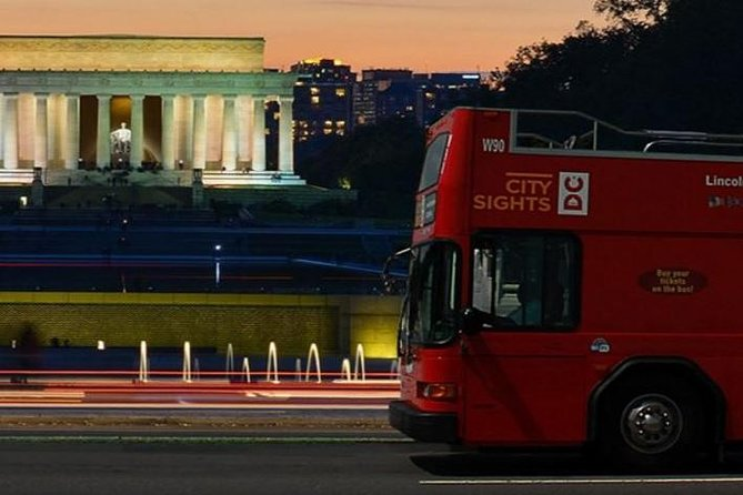 Washington DC Double Decker Bus Guided Night Tour, Washington DC, ESTADOS UNIDOS