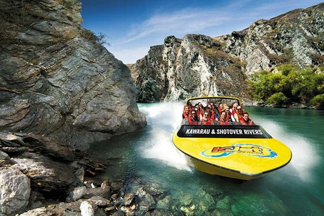 Kick off your trip to Queenstown in adrenaline-pumping style on a private Jet boat that takes you directly from the airport into Queenstown. Speed down the Kawarau River and over Lake Wakatipu, holding tight as your expert captain performs tricky spins and maneuvers. Zoom through some of the world's most beautiful scenery before arriving right in the center of Queenstown, where you are escorted to your hotel. What a way to start your visit to the adventure capital of New Zealand!