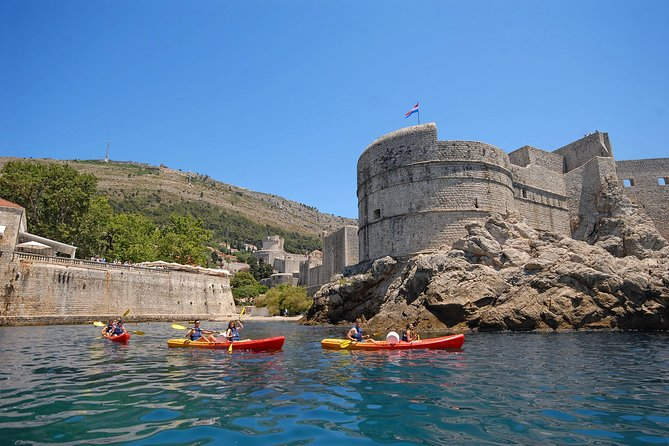 Paddle with-in a stone's throw of Dubrovnik's towering city walls on a ~3-hour kayak tour from the UNESCO-listed 'Pearl of the Adriatic.' Learn about the areas history from a local guide as you kayak near the island of Lokrum, with time for snacks and a refreshing swim or snorkel at a secluded, but popular beach cave along the Dubrovnik coastline. Choose from multiple departure times during this leisurely paced experience, suitable for beginners. Book the evening tour and finish with an added treat — a glass of wine as the sun sets.