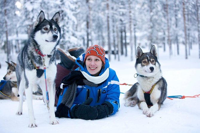 Arctic Circle Family Day <br><br>This tour includes must-do activities of Lapland: Snowmobiling, Husky sleigh ride, and Ice Fishing. The first destination is the Siberian Husky Farm in the Arctic forest. You will have an experience of a 5-7 km Husky adventure sleigh ride along the picturesque forest trails. After the ride, go on to a frozen lake for an exciting activity in the Arctic - Snowmobiling. Drive across the sparkling white landscapes and feel the fresh air of Finnish Lapland.