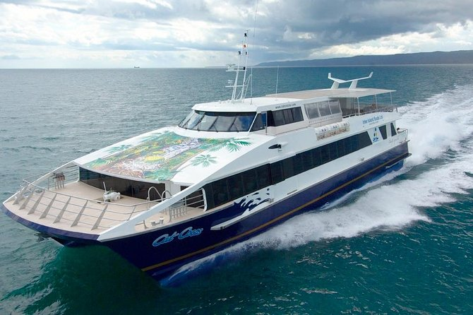 Pre-Book your Cat Cocos ferry transfersbetween the islands of Mahe and Praslin in the Seychelles. <br><br>Refer to the Cat Cocos Ferry Schedule below for ferry timings. <br><br> IMPORTANT NOTE : One can EITHERbuy a One-Way or Return but Ferry Ticket Cost is per Person per One-Way Trip.<br><br>e.g. - Mahe to Praslin in Lower Deck is Euro50 per Person and Mahe to Praslin Return is Euro100 per Person. <br><br>All names ie First Names and Surnames must be mentioned upon making bookings in order to book Cat Cocos ferry. <br><br>For children - date of birth must also be mentioned (compulsory). Note that there is a reduced rate for children of 2 to 11 years old. <br><br> Ferry tickets to be collected at the Vision Voyages DMC office at the Mahe Jetty.
