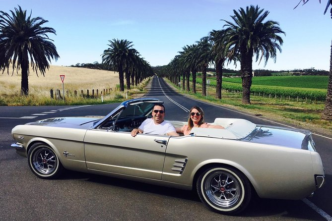 Turn heads and feel the wind in your hair on an exhilarating private classic 1966 Mustang Convertible tour of the Barossa Valley. Enjoy the ultimate luxury, comfort and adventure as you sample the region's finest food, wine and sights, while enjoying the top-down experience on this customised tour.