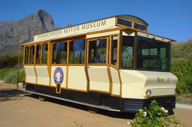Visit Anthonij Rupert and L'Ormarins Estate and see the best of these two properties in Franschhoek. The tour includes a visit to the Franschhoek Motor Museum, A scenic tram drive taking in views of the Estate's vineyards and the Franschhoek valley below, wine tasting and Antipasti lunch featuring local products & ingredients. Visitors should allow approximately 4 hours for this experience.