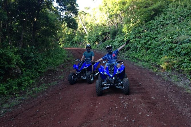 Discovering the interior of the island has a special charm with our ATV on a 3 to 4 hours tour. We present you a fun tour full of histories and emotions placed by the medium difficulty level of the track. With a mix of our beautiful gravel tracks in the heart of this unique island, and local connections roads in our peaceful land enjoy this amazing adventure.<br><br>Let this adventure guide you enjoying the magnificent experience that the Azorean nature has to offer you, through a direct contact with the pure island interior.<br><br>Pick up in the hotel your staying is included (in the city of Angra do Heroísmo).<br><br>Gas not included.<br><br>