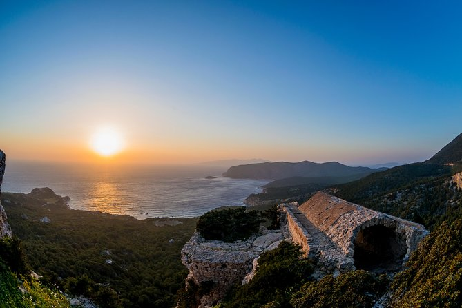 Explore the wild west side of the Island on this full day PRIVATE / EXCLUSIVE hiking trip. <br><br>Hike Akramytis Mt, the green mountain with the endless blue view. <br><br>Make a small stop on the top of the mountain to see the recently restored chapel of St. John with amazing views to the Dam of Apolakkia, the Valley of Kymisala and the nearby Islands of Alimia and Chalki.  <br><br>After enjoying some stunning views of the Aegean Sea and the nearby islands, visit Monolithos village, a small picturesque mountain village untouched by tourism to enjoy Greek home made dishes at the village tavern. <br><br>The trip includes hotel pick up and drop off.