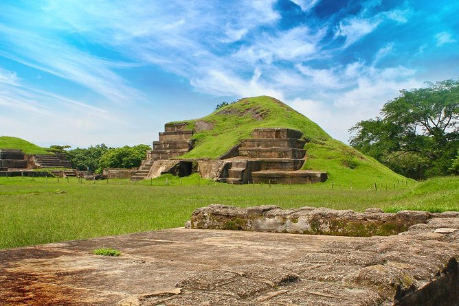 Enjoy a tour of El Salvador's major Maya archaeological sites: volcano-buried civilizations, pre-Columbian pyramids and indigo-producing factories. Select a morning or afternoon tour and visit the UNESCO-listed Joya de Cerén along with San Andrés, or choose a full-day itinerary that also includes Tazumal and the Colonial city of Santa Ana. Includes round-trip hotel transport from San Salvador by comfortable private vehicle.