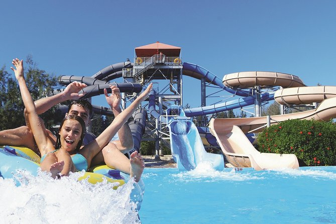 Get picked up at your centrally located hotel in Paphos by bus to enjoy a day away from the hustle bustle. Enjoy a day filled with thrill at the Fasouri Watermania Waterpark, presently over 100.000 square meters – 25 acres and features a number of attractions and facilities.<br><br>The Fasouri Watermania Waterpark is the ideal place for families, friends, and children to spend a one-day outing, away from work troubles and paper loads. The Waterpark has 30 different slides for all ages, two restaurants, and three snack bars. Enjoy many swimming areas, spectacular water play areas for kids and high-speed water slides.<br><br>At Fasouri Watermania Waterpark enjoy being entertained in a safety and relaxing environment. Get away from the hassle and bustle of the crowded city and join a uniquely thrilling experience. Dressed in a Polynesian theme, the Waterpark gives a tropical feeling to your experience.<br><br>After 9 hours of water fun, it´s time to go back to Paphos.
