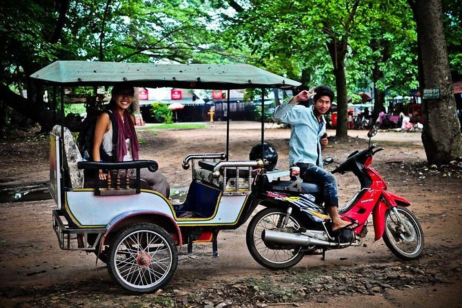 A tuk-tuk ride through the Angkor temples complex provides an entertaining way to travel between temples and is ideal for taking photos.