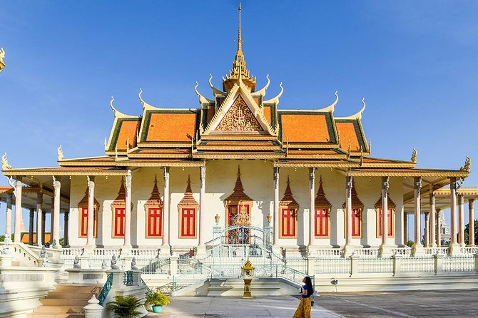 Discover the the vibrant bustling capital of Cambodia, Phnom Penh. Admire the stately columns of the Cambodian king's residence, visit a temple home to bejeweled Buddhas, and learn about the country's past on this fascinating full-day tour. Stop at the hilltop Wat Phnom before glimpsing in to the tragic recent history of Cambodia at Tuol Sleng Genocide Museum and the Killing Fields at Choeng Ek. With an private experienced guide to lead you between stops, you can also visit a vibrant market and grab lunch at a locally loved cafe.