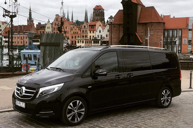 Plan your journey from the airport before you arrive to Gdansk. A private English-speaking driver will pick you up from the arrival hall and take care of your journey to the designated place in Gdansk. Luxury, fully-equipped Mercedes V Class/Vito mini van cars are at your disposal.