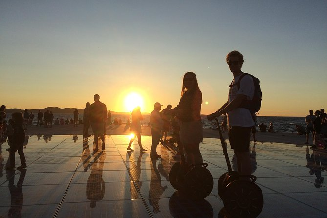 • segway ride <br> • city sightseeing tour by segway <br> • Zadar heritage tour <br> • multiple stops along the way to make a photo <br> • tour guide which provides informations about the city <br>