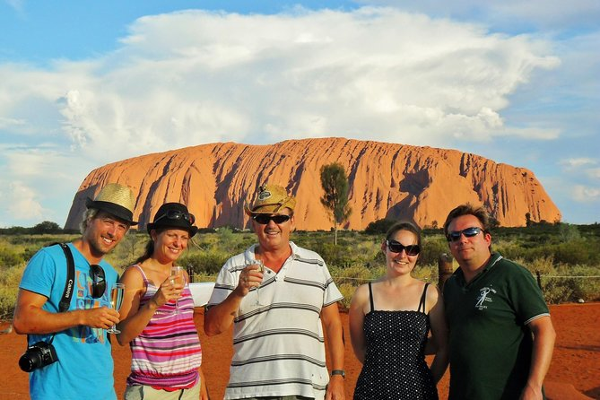 Experience the wonders of Kata Tjuta & Uluru as part of your Northern Territory adventure. <br><br>Travel in air-conditioned comfort, hear intriguing stories and learn the secrets of this unique world-renowned destination. We provide meals, beverages and snacks so all you have to do is focus on your incredible surroundings. <br><br>Combining luxury with exploration and discovery, this day tour is one of the most popular things to do during an authentic outback discovery holiday. <br><br>This day trip to see the sights of Uluru and Kata Tjuta is a memorable experience for holidaymakers of all ages. <br><br>All activities are considered very safe for all age groups. They do not require a high level of fitness or agility. <br><br>You'll enjoy: <br><br>Watching the sunset at the sacred site of Uluru with a glass of bubbly<br>Uluru: Guided Mala Walk<br>Uluru: Guided Mutitjulu Waterhole Walk<br>Kata Tjuta: Walpa Gorge Walk<br>Aboriginal Cultural Centre<br>Mount Connor Lookout (Alice Springs start only)