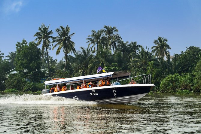 Zip along the Saigon River by luxury speedboat to the Cu Chi Tunnels, round-trip from Ho Chi Minh City. Select an early or late morning departure and enjoy a peek at traditional life along the riverbanks on this half-day tour. Then descend underground with a guide into a vast network built by resourceful guerrilla fighters during the Vietnam War to provide supply routes, food and weapon caches, living quarters and hospitals. Breakfast and lunch, or dinner (depending on departure selection), and unlimited refreshments are included with round-trip transport. Numbers are limited to 14 to ensure a personalized experience on this small-group tour.