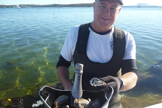 Wade out into the water, sit at our semi submerged tour deck 'The Salt Water Pavilion' which is located right in a working commercial Oyser farm.  Hear from the Oyster Farmer himself (Ben) about how oysters grow and Oyster farming practices.  Taste the freshest and most famous Coffin Bay Oysters youve ever tasted, straight out of the water!<br><br>A very unique culinary adventure, and a once-in-a-lifetime experience!<br><br>Choose from the options list to add a glass of Riesling & extra oysters; a bottle of Champagne & extra oysters; or Champagne + extra oysters + seafood share platter.
