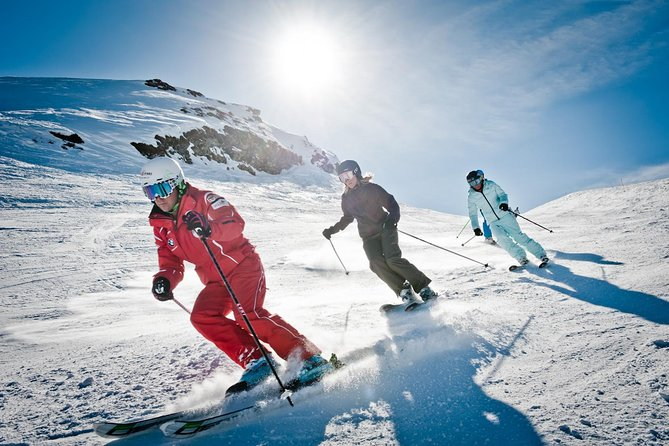 Hit the slopes in style and enjoy the soaring peaks of the Swiss Alps to the full with this ski or snowboard rental package from Interlaken. Choose a 1-, 2- or 3-day hire package of 4- or 5-star quality. Browse the extensive range of skis, snowboards and boots suited to all levels from beginner to expert. Try your hire equipment on for size in-house and instruct your ski hire technician to make any fitting adjustments. Enjoy 10% insurance charge against accidental damage or theft included in your hire package.