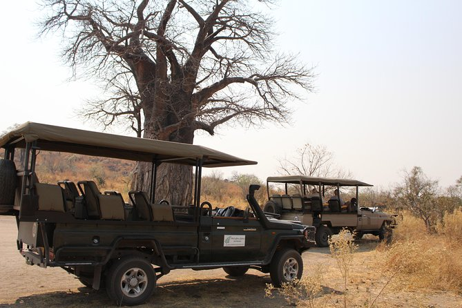 We will offer twice daily game drives and ground transfers to the campsite,exclusive camping in the middle of the bush on the North western part of Chobe National Park with a well experienced professional guide<br><br>3 meals per day,high tea and game drive snack<br><br>Bottled water,beers,wines,spirits,amarula<br><br>Full housekeeping service and linen<br><br>Waiters,sculleries and camp assistants