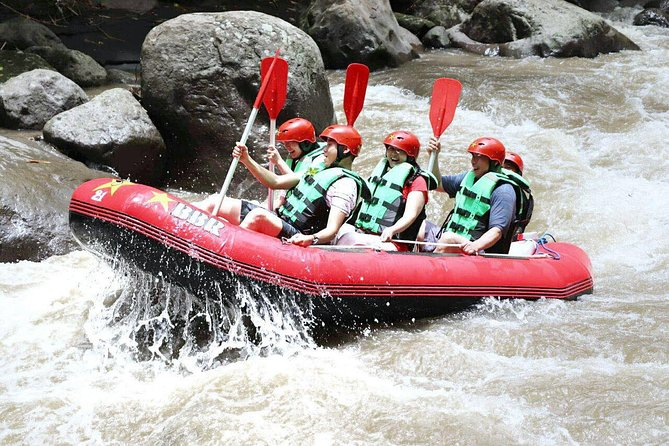 White water rafting to see the beautiful natural scenery and adventures on the Ayung River in Ubud!