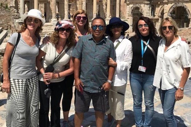 THIS IS A PRIVATE TOUR ONLY FOR YOU AND YOUR TRAVEL COMPANIONS. Enjoy your full day,private guided tour that was focussed on Christian History in Ephesus. Visit Ancient City of Ephesus, House of the Virgin Mary, Saint John Basilica and  Temple of Artemis. Walk on the streets where Apostle Paul and John walked, feel the peaceful atmosphere of House of the Virgin Mary, visit the tomb of John the Apostle in Saint John Basilica, see the Grand Theatre of Ephesus that St. Paul preached to Ephesians, take excellent pictures in front of Celsus Library,explore Roman Baths,Temple of Hadrian, Public Toilets, Marble Street, Agora, etc. Ensure a personalized experience with your knowledgeable guide. Since it will be your private tour, you can spend your time in the sites as much as you wished, take your pictures from best foto ops that are shown by your guide, ask your questions to your private guide who will be with you entire day.