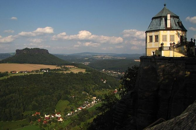 Visit the two highlights of the Saxon Switzerland National park on this 7-hour day trip from Dresden and see the Bastei Bridge and FortressKönigstein. Your guided tour will take you into the heart of the German Saxon Switzerland National Park, the Elbe River Canyon region.