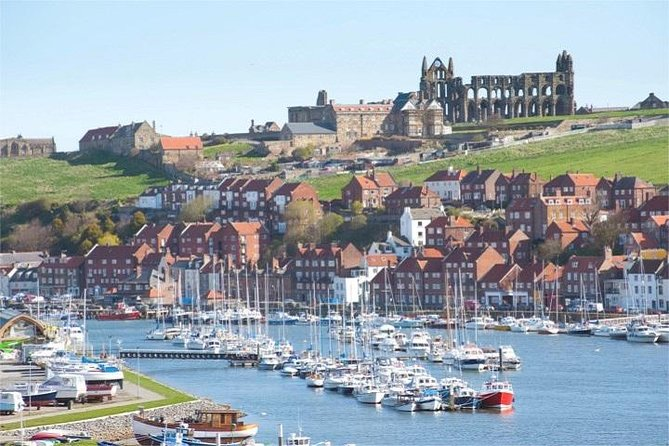 Spend three hours enjoying Whitby on our friendly, small-group, Guided Day Trip from York, as well as exploring the scenic and picturesque North York Moors National Park. You will have a full three hours of free time in the fishing port of Whitby on this trip, to see Whitby Abbey (inspiration for the Dracula books), visit the Captain Cook Attractions, shop for some Whitby Jet or Gothic Fashion, sample Fish & Chips from the famous Magpie Café or just enjoy the bustling port and waterfront – the choice is yours! As well as photo stops on the moors, you will also stop at the famous Kilburn White Horse, the market town of Helmsley (with its quaint cafes, shops and medieval castle) and the beautiful, traditional English villages of Goathland (Heartbeat and Harry Potter filming location) and Lealholm (with its stepping stones across the River Esk). Enjoy personal attention from your guide on this small-group mini-coach tour, limited to 16 people.