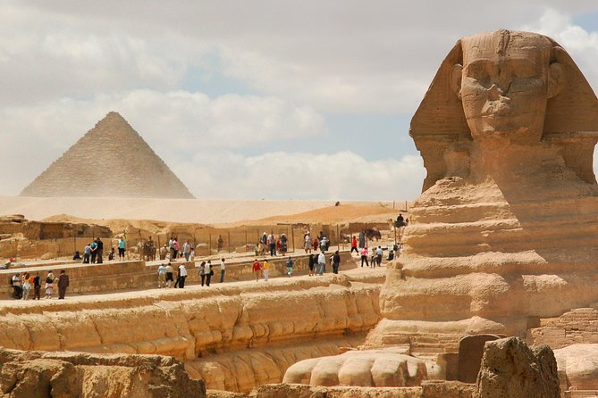 Explore the history of Egypt on the day tour of the Pyramids of Giza. Visit the Valley Temple of the Chephren Pyramids and the Great Sphinx. And see treasure from the tomb of Tutankhamen and over 5,000 years of Egyptian art in the Egyptian Museum.