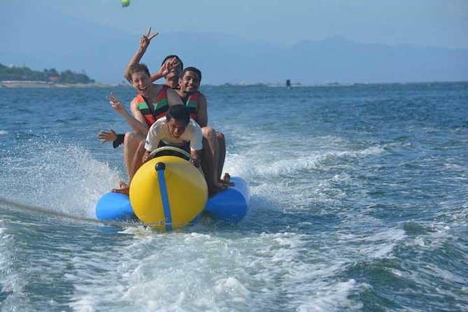 This Serangan Island watersports package let you explore the beauty of Bali's beaches while enjoying fun watersports such as snorkeling, Banana Boats, jetskiing and fly fish. The action will be taking place at beautiful Serangan Island, which has less crowds compared to other beaches in Bali, to ensure you have the best Bali water sports experience.Door to door hotel pick up and drop off included