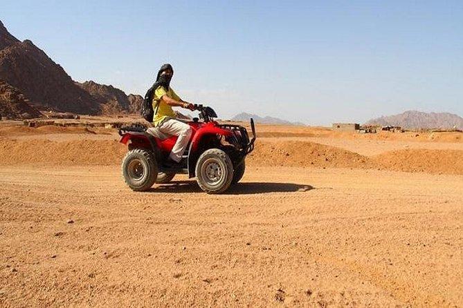 Enjoyfull day in the desert starting by thequad biking, camel ride, Bedouin dinner, folkloric show