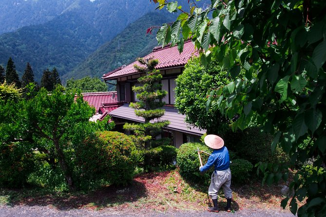 """Over the course of two days of an easy walk (self-guided tour) along the Nakasendo road and one overnight stay at a Minshuku (family run lodging), immerse yourself in Japan's folkloric landscapes between the villages of Nakatsugawa and Tsumago. During Japan's feudal period (1603-1868), the Nakasendo road was one of the five routes that linked the economic hub, Tokyo, to the imperial capital, Kyoto. Unlike the Tokaido road, which was replaced by today's Shinkansen train, the Nakasendo was saved from rampant modernization and still upholds an old-fashioned charm. Created by general Tokugawa in order to assert his political domination, the route spans a distance of 534 kilometers and includes 69 rest stops. Its name literally means """"mountain road"""" and is a means of communication in case of a large flood on the Tokaido: the coastal road. <br><br>Travelers should have a moderate physical fitness level"""