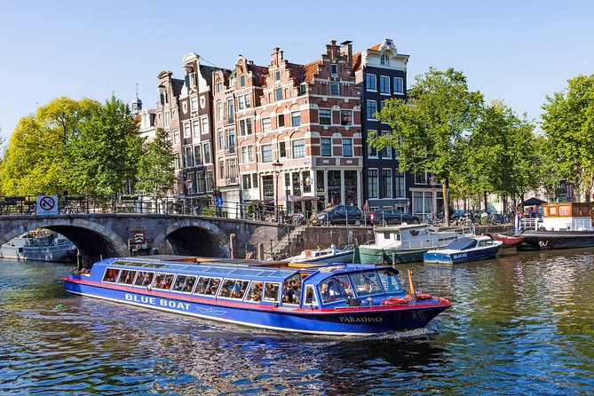 Amsterdam is best viewed from the water. On this 75-minute canal cruise you'll experience the best of our historical city. It offers you the best views of the illuminated bridges and 17th-century buildings lining the city canals. You'll come across new architecture and bridges, showing a city that is rooted in history but continues to develop and change.<br><br>The ticket for your City Canal Cruise board is a TIMESLOT ticket. You chose one of below mentioned docks to depart from: <br><br>The first dock is located at Stadhouderskade 501 opposite the Hard Rock Cafe. Take tram 1, 2, 5,11 and 12 stop at Leidseplein. from there the dock is a 2 minute walk.<br><br>* The second dock is located at Stadhouderskade 550, opposite Heineken Experience. Take tram 2, 5,and 12 stop at Rijksmuseum. from there the dock is a 5 minute walk or take metro No. 52 and stop at Vijzelgracht. From there the dock is only a 2 minute walk.