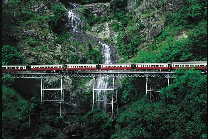 Explore the World Heritage-listed Rainforest on this day trip from Cairns. Explore the stunning village of Kuranda as you wander through the markets, shops or take a local walking tour. Choose between four options and either travel by coach, scenic railway or the skyrail cable car, or train towards the incredible Kuranda village.